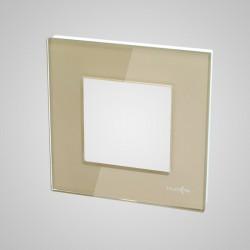 Ramka 1-krotna (86x86mm) szklana, złota