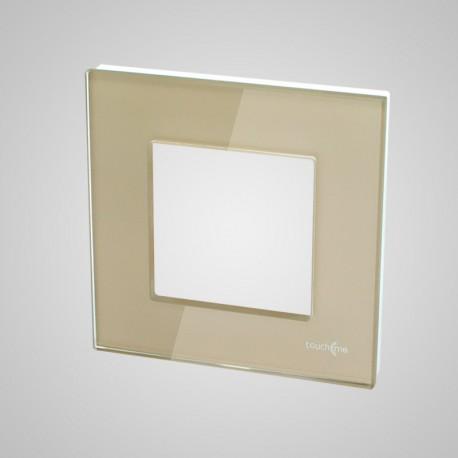 Włącznik dotykowy Touchme: ramka 1-krotna (86x86mm) szklana, złota