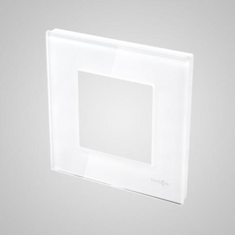 Włącznik dotykowy Touchme: ramka 1-krotna (86x86mm) szklana, biała