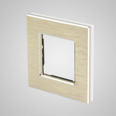 Włącznik dotykowy Touchme: ramka 1-krotna (86x86mm) aluminium, złota
