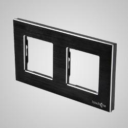 Ramka 2-krotna (86x158mm) aluminium, czarna