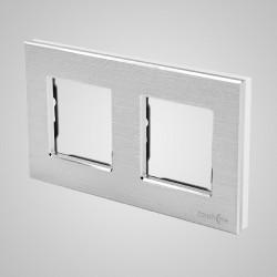 Ramka 2-krotna (86x158mm) aluminium, srebrna