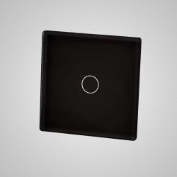 Mały panel dotykowy 47x47mm szklany, łącznik pojedynczy, czarny