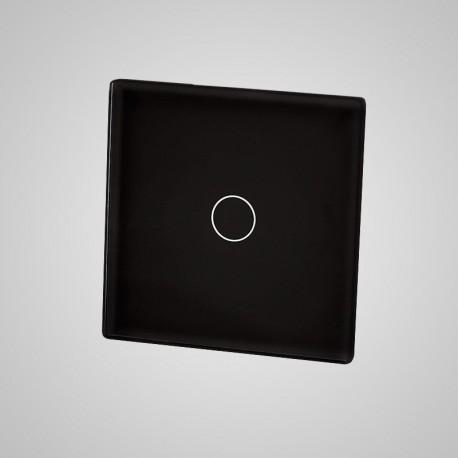 Włącznik dotykowy Touchme: mały panel dotykowy 47x47mm szklany, łącznik pojedynczy, czarny