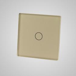 Mały panel dotykowy 47x47mm szklany, łącznik pojedynczy, złoty