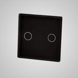 Mały panel dotykowy 47x47mm szklany, łącznik podwójny, czarny