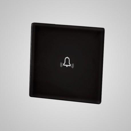 Włącznik dotykowy Touchme: mały panel dotykowy 47x47mm szklany, dzwonek, czarny