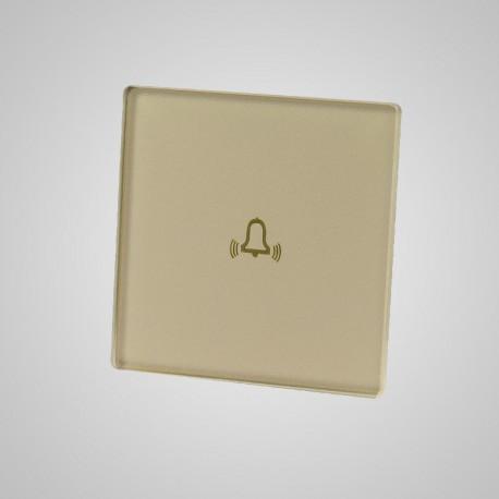 Włącznik dotykowy Touchme: mały panel dotykowy 47x47mm szklany, dzwonek, złoty