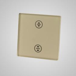 Mały panel dotykowy 47x47mm szklany, żaluzjowy, złoty