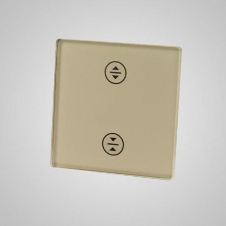 Włącznik dotykowy Touchme: mały panel dotykowy 47x47mm szklany, żaluzjowy, złoty