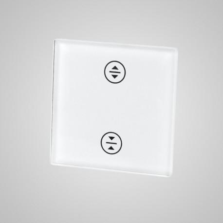 Włącznik dotykowy Touchme: mały panel dotykowy 47x47mm szklany, żaluzjowy, biały