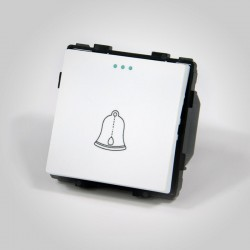 Mechanizm dzwonkowy / łącznik zwierny dzwonek biały