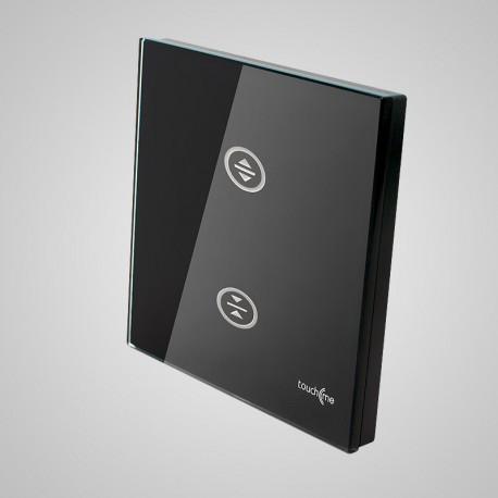 Włączniki dotykowe Touchme: duży panel dotykowy 86x86mm szklany, żaluzjowy, czarny