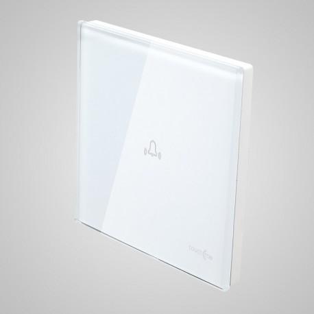 Włączniki dotykowe Touchme: duży panel dotykowy 86x86mm szklany, dzwonek, biały