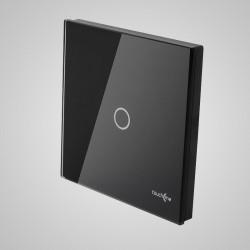 Duży panel dotykowy 86x86mm szklany, łącznik pojedynczy, czarny