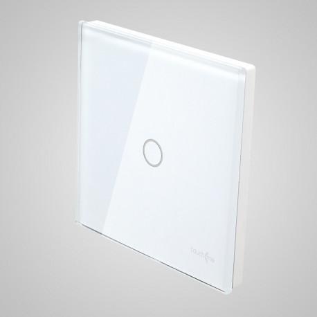 Włączniki dotykowe Touchme: duży panel dotykowy 86x86mm szklany, łącznik pojedynczy, biały